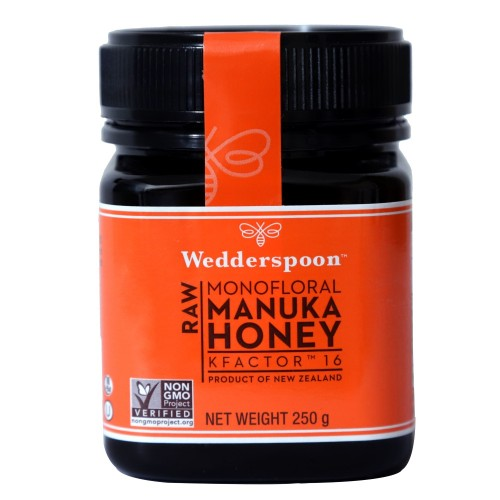 Wedderspoon Raw Manuka Honey K Factor 16+ 250 gm