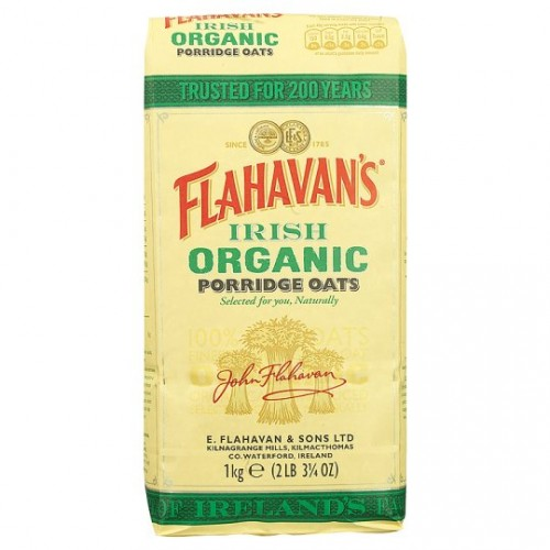 Flahavans Irish Organic Porridge Oats 1kg - Rolled Oats