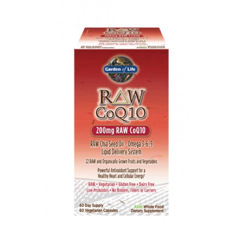 Garden of Life Raw CoQ10 200 mg - 60 ct