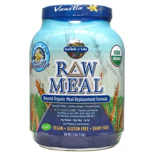 Garden of Life Raw Organic Meal Supplement, Vanilla - 1115 Gram