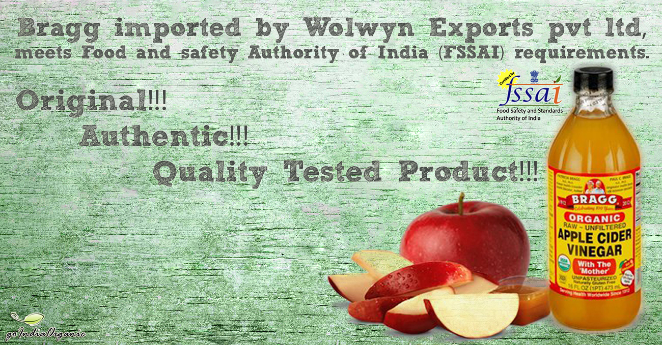 Bragg Organic Apple Cider Vinegar now FSSAI Regulated in India
