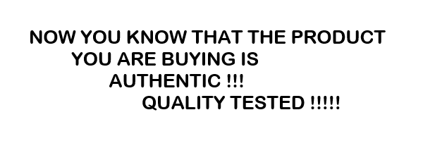 Authentic, Quality Tested Product