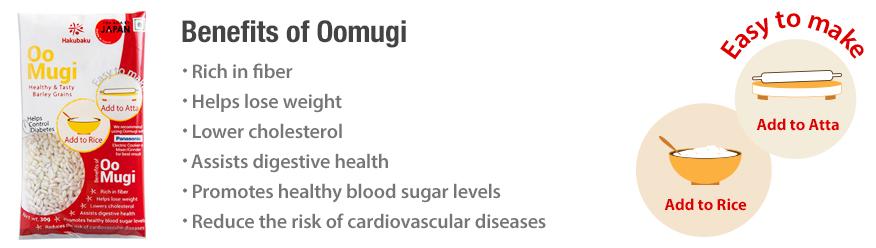 Oomugi Benefits