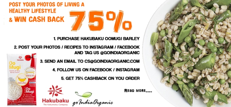 Purchase Hakubaku Oomugi Barley and get 75% cash back
