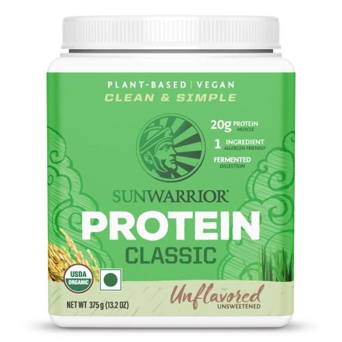 Sunwarrior Classic Brown Rice Protein 375 g, Unflavoured, Unsweetened, Gluten Free, Vegan, Plant-based Protein Powder