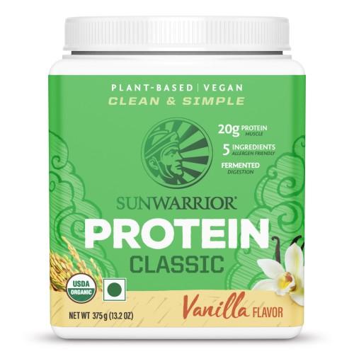 Sunwarrior Classic Brown Rice Protein 375 g, Vanilla, Gluten Free, Vegan, Plant Based Protein Powder