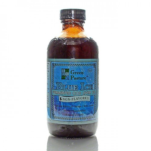 Blue ice fermented cod liver oil liquid for Fish oil liquid form