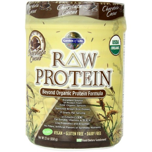Garden of life raw organic protein chocolate plant based protein powder for Garden of life raw protein and greens