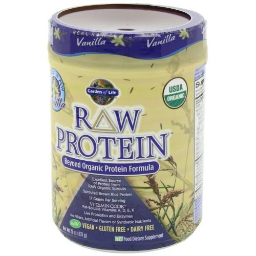 Garden of life raw organic protein vanilla 631 gm for Garden of life raw protein vanilla
